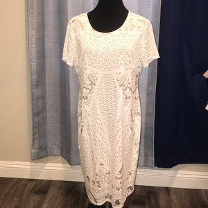 Jessica Simpson cream/beige Maternity Dress